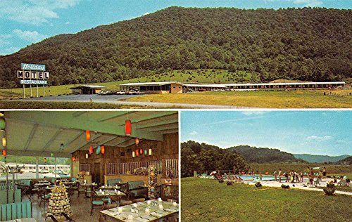Jellico Tennessee Holiday Motel and Restaurant Vintage Postcard J58752