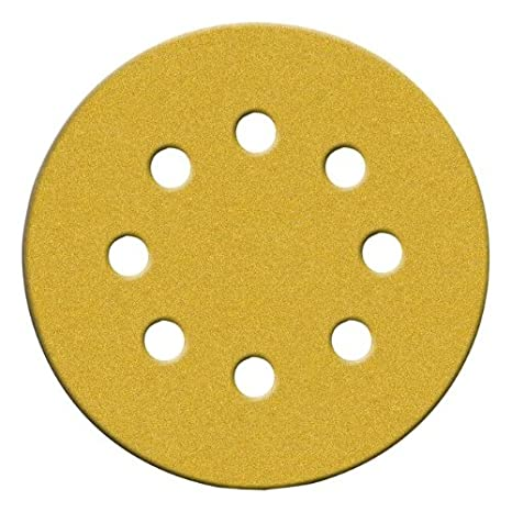 25-Pack Norton 49223 5-Inch 8 Hole P80 Hook and Loop Discs