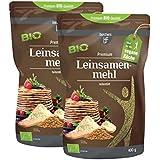 2 x borchers bff Premium Bio Leinsamenmehl 400g