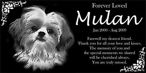 (Personalized Shih Tzu Pet Memorial 12