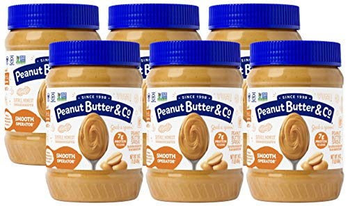 Butter Drip - Peanut Butter & Co. Smooth Operator Peanut Butter, Non-GMO Project Verified, Gluten Free, Vegan, 16 oz Jars (Pack of 6)