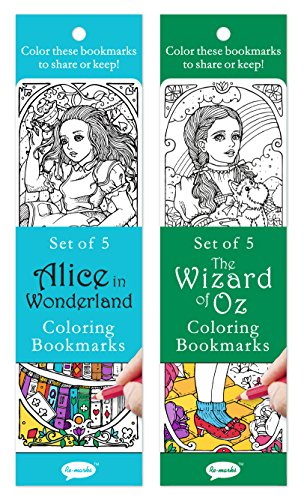 Re-Marks Literary Colormarks 2 Pack - Alice in