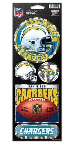 - NFL San Diego Chargers Prismatic Stickers, Team Color, One Size