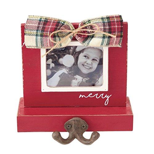 Holder Frame Photo Stocking - Mud Pie Red Tartan Bow Stocking Holder (Red)