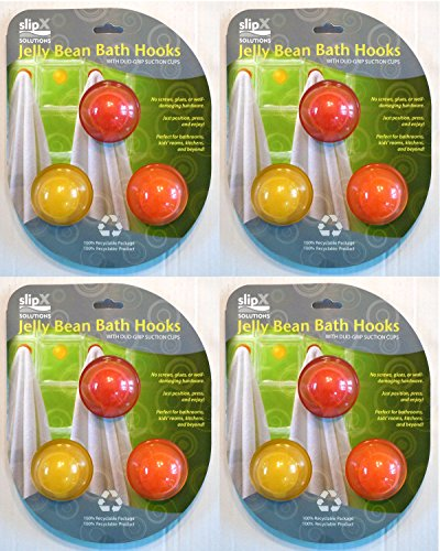 JELLY BEAN BATH HOOKS- 3PK CITRUS, Case Pack of 4, Case Pack