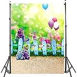 DODOING 3x5ft Bear Ballon Children Style Fence Teddy Bear Photography Backdrop no Crease Cute Background