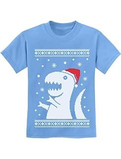 81b02250 Amazon.com: Youth Santa Jaws Funny Holiday Shark Christmas T Shirt ...