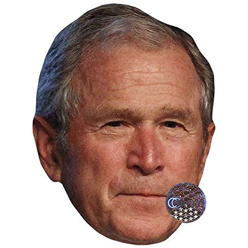 George W. Bush (Grey Hair) Celebrity Mask, Card
