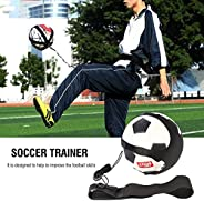 Football Soccer Kick Trainer Hands Free Solo Soccer Training Belt Training Aid for Kids Children Adults Practi
