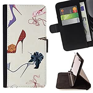 For HTC Desire 626 & 626s Stiletto Fashion Design Shoes Purple Style PU Leather Case Wallet Flip Stand Flap Closure Cover