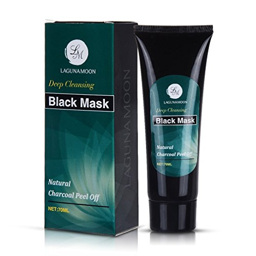 LAGUNAMOON Charcoal Peel Off Mask, Natural Purifying Black M