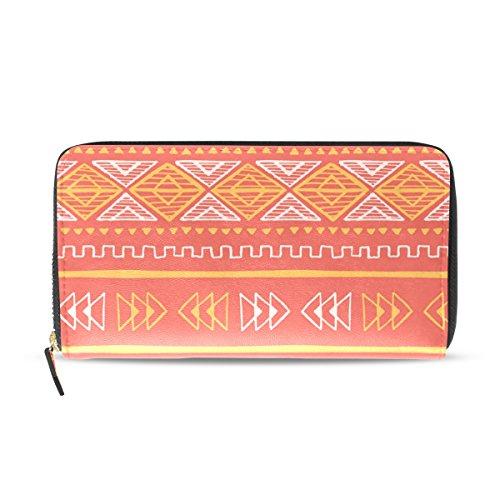 Womens Zipper Wallet Classic Africa Art Clutch Purse Card Holder Bag by WIHVE