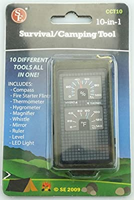 SE CCT10 10-IN-1 Survival Camping Tool by Sona Enterprises