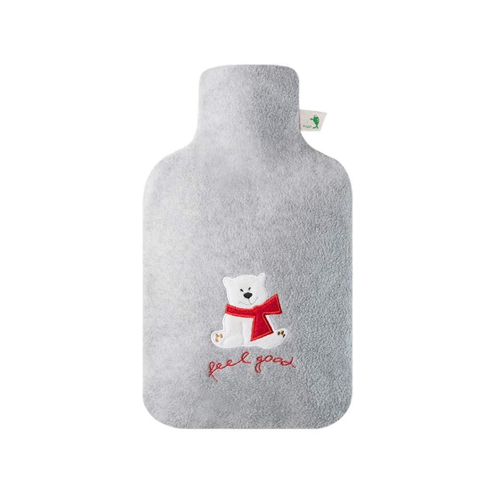 TD Nette Karikatur-SAMT-Heißwasser-Flasche gefüllt mit Wasser-Heizungs-Wasser-Flaschen-Einspritzungs-Wasser-Handwärmer-explosionssicherer Sicherheits-Karikatur-Netter bequemer Flanell