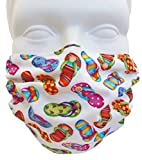 Flip Flops Style Face Mask - Filters Dust, Pollen, Allergens, Cold & Flu Germs - Allergy Mask - Ideal for Airplane Travel; Antimicrobial