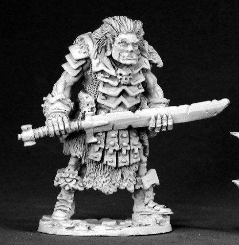Reaper Miniatures Orankar, Ogre Boss #02537 Dark Heaven Legends Unpainted Metal