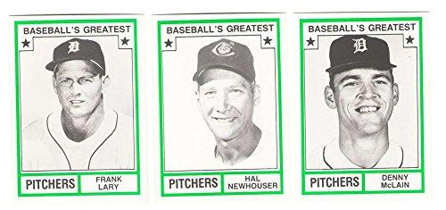 1982 TCMA Greatest Pitchers - DETROIT TIGERS Team Set