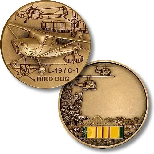 L19 Bird Dog - L19/O-1 Bird Dog / Vietnam Engravable Challenge Coin by Northwest Territorial Mint