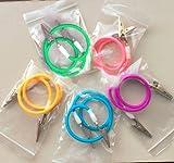 Aphrodite New Autoclavable 3PCS/Set Colourful Bib Clip With Colorful Silicone Chain