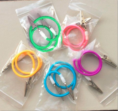B00Y9M1C2A Aphrodite New Autoclavable 3PCS/Set Colourful Bib Clip with Colorful Silicone Chain 51maYkiE4qL