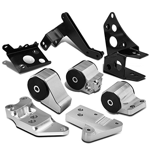 For Honda Civic K-Series Swap Billet Aluminum Engine Mount Kit w/Bracket (Replacement Kit Mount Billet)