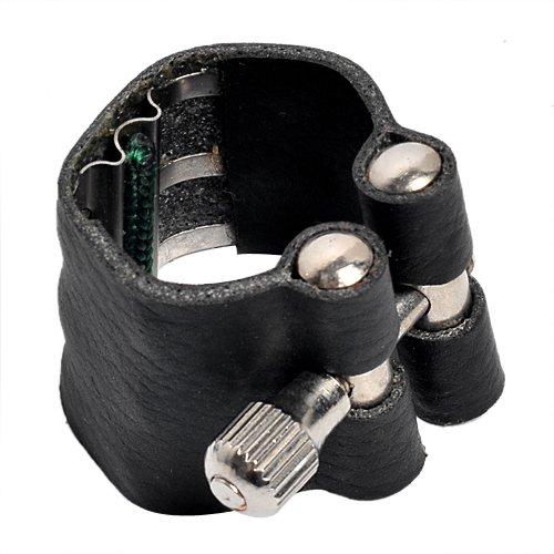 1pc Leather Ligature for Soprano Saxophone Mouthpiece Black Ltd 4334280299