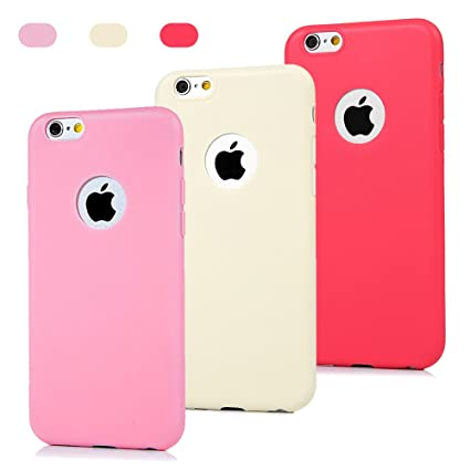 3 x Carcasas iPhone 6/6S Funda TPU Mate Antideslizante ...