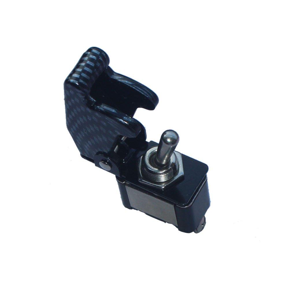 HOUTBY/™ 5Pack 12V 20A 125V 5A 250V 3A Red Shell Rocker Toggle Switch SPST ON//OFF 2Pin