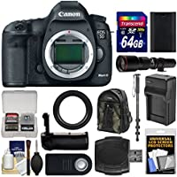Canon EOS 5D Mark III Digital SLR Camera Body with 500mm Telephoto Lens + 64GB Card + Backpack + Battery & Charger + Grip + Monopod Kit Review Review Image