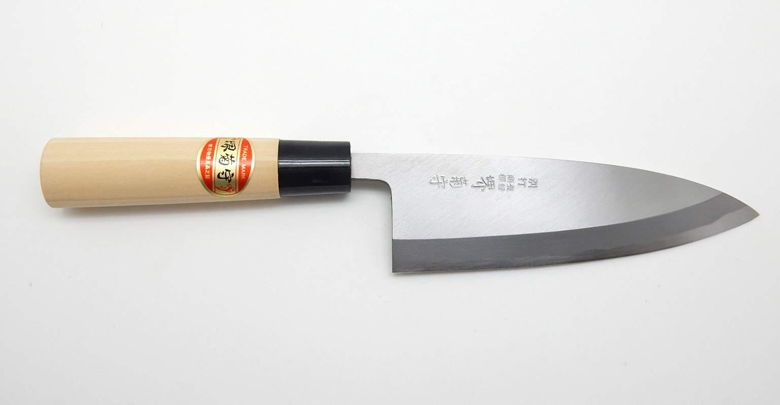 SAKAI KIKUMORI Yasuki White Steel,Kasumi Professional Deba Knife (165mm/6.5'') by SAKAI KIKUMORI (Image #2)