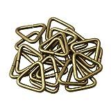 Yibuy 20 x DIY Metal Triangle Ring Loop Buckles for Luggage Bag Bronze 1.6cm