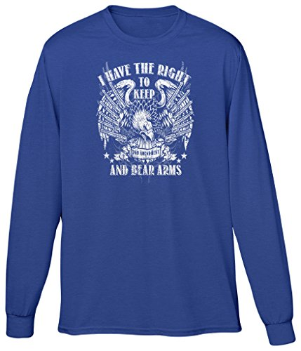 - Blittzen Mens Long Sleeve T-shirt Right to Keep and Bear Arms, 2XL, Royal Blue