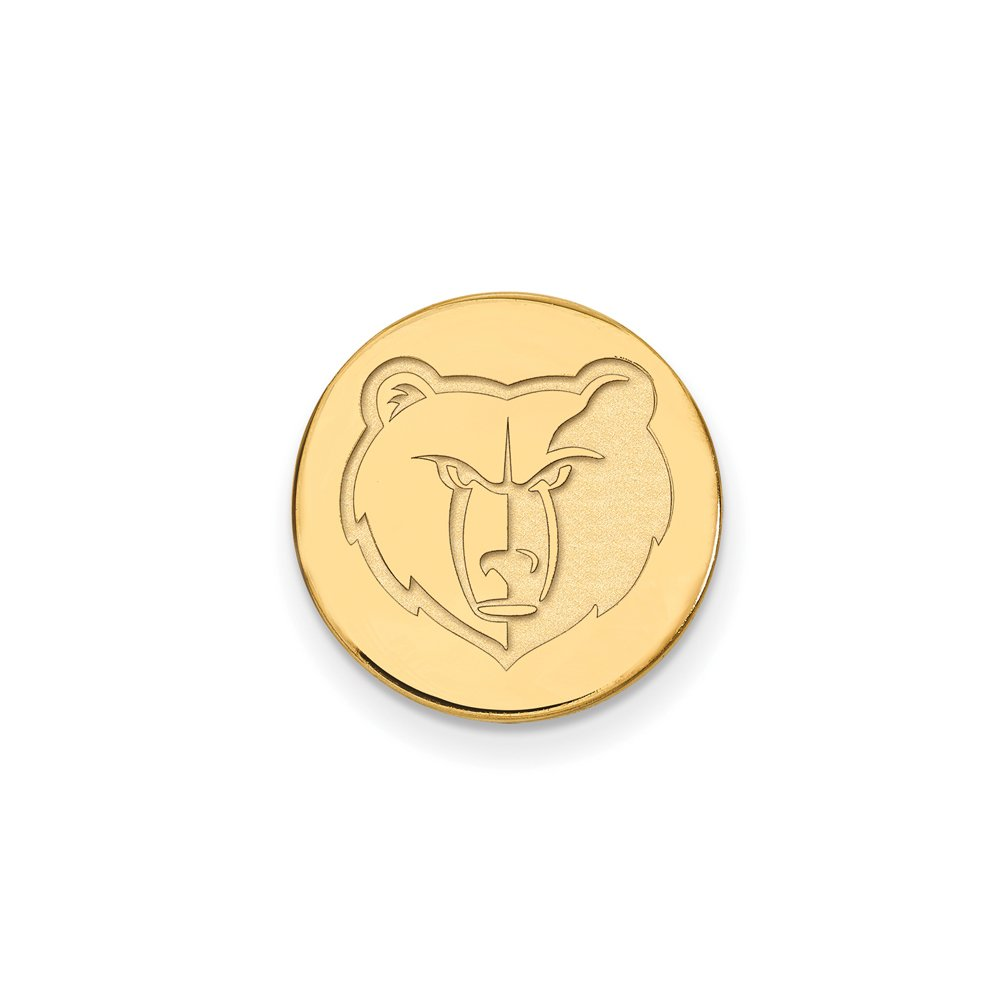 NBA Memphis Grizzlies Lapel Pin in 14K Yellow Gold by LogoArt