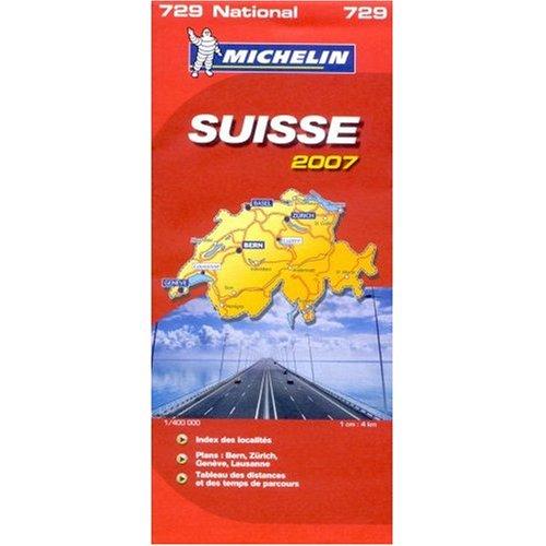 Michelin Map No. 729 Switzerland, Scale 1:400,000 (Michelin Guides) - 51maZq1A33L