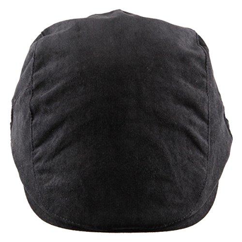 Moonsix Newsboys Hats,Unisex Corduroy Cotton Flat Ivy Berets Hat Driving Cap(01-Black(Corduroy))