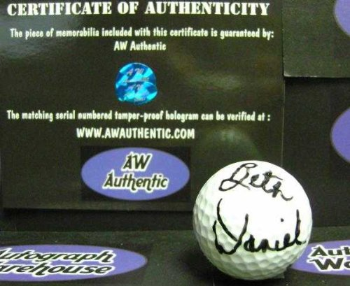 Beth Daniel Autographed Golf Ball (Lpga Womens Championship 1990) With Free Display Cube