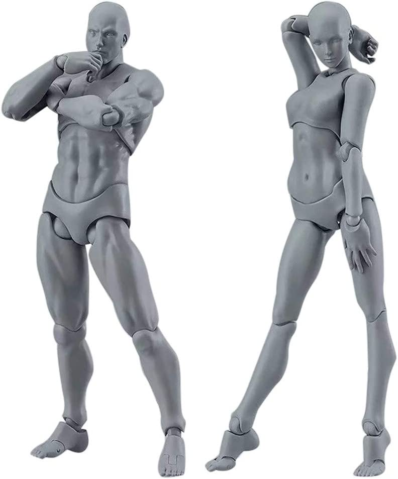 Drawing Figures for Artists Action Figure Model Human Mannequin Man Woman w//Kit