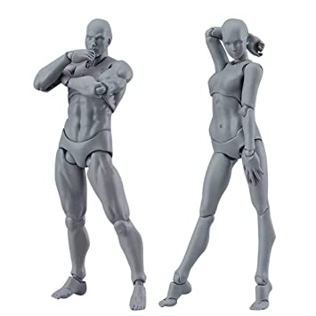 Color Lilij Drawing Figures For Artists Action Figure Model Human Mannequin Man And Woman Set With Accessories Kit For Sketching Painting Drawing