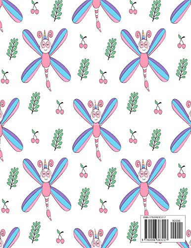 Sketchbook: Dragonfly cover (8.5 x 11) inches 110 pages, Blank Unlined Paper for Sketching, Drawing , Whiting…