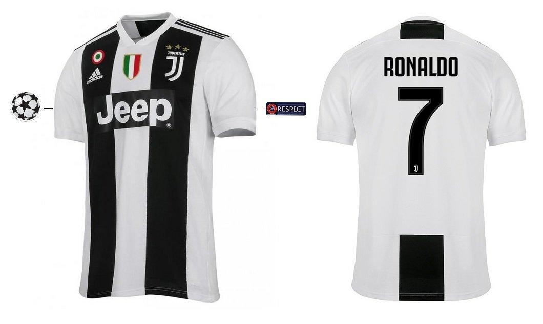 Marken Trikot Kinder Juventus 2018-2019 Home UCL - Ronaldo 7