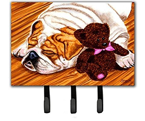 Caroline's Treasures AMB1003TH68 English Bulldog and Teddy Bear Leash or Key Holder, Large, - Bulldog Leash Hook
