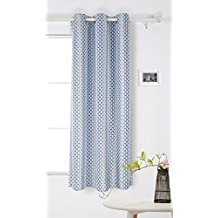 Deconovo Grommet Top Gradual Change Moroccan Print Thermal Insulated Bedroom Window Blackout Curtain 42 x 84 Inch Azure Blue One Panel