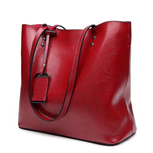 6710 Miss Brand Women Handbag Leather Purse Burgundy Tote Lulu Bag Pu Designer Shoulder PqXwx5rtXn