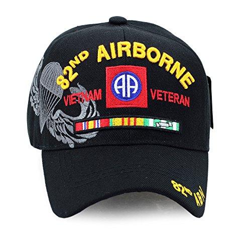 82nd Airborne Vietnam Veteran US Military Hat Baseball Cap Velcro Adjustment Strap