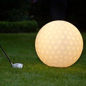 Golfball Leuchtkugel / Leuchtball, Ø 40 cm, für Innen und Außen, aus...
