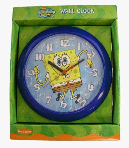 Spongebob Squarepants Wall Clock - Round Shape Spongebob Clock