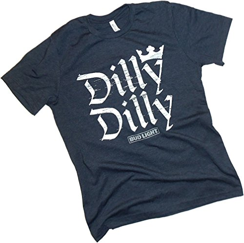 Anheuser Busch  Dilly Dilly  Bud Light  Crown Letters Adult T Shirt  X Large