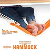 Stellar Adjustable Foot Hammock | Portable Home or Office Desk Hanging Foot Rest | Easy Install No Tools | Relaxing Accessories