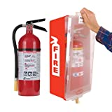 Fire Extinguisher with Cabinet, Red Tub/Clear Cover, Kidde