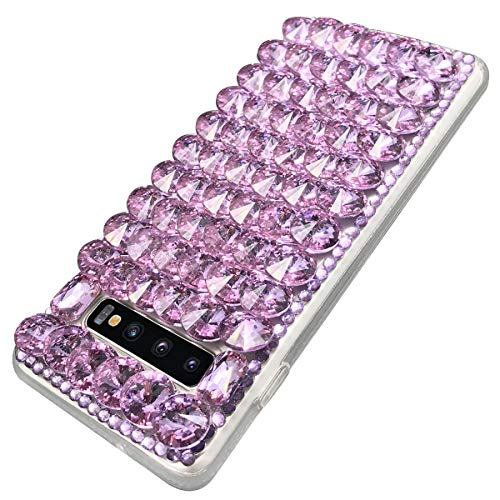 S 10 plus case Glitter Diamond Cases Compatible with Samsung Galaxy S10 Plus Luxury Bling Sparkle Crystal Rhinestone Phone Protective Back Cover for gaxaly gaalxy glaxay galaxys10 S10Plus 10s (Purple)